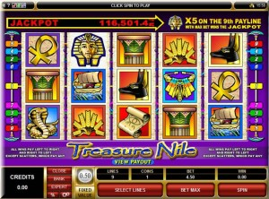 Jackpot city treasure nile frame